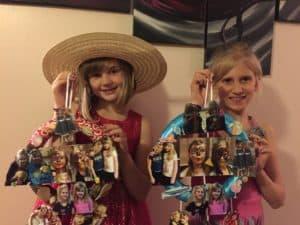 girls wreath made of photos