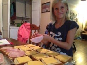making sandwiches in bulk