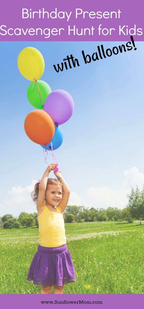 Having a birthday present scavenger hunt at home with just your child is the perfect way to extend giving your child their present and making them feel extra special on their birthday! This can be a low cost birthday present that your child will not soon forget!