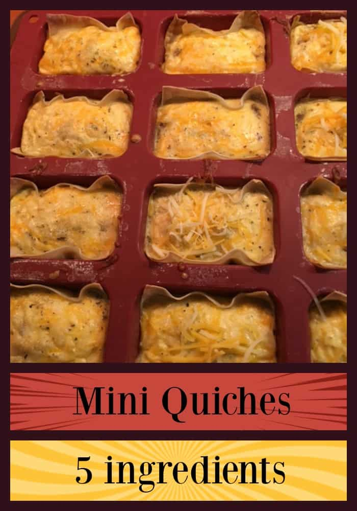 Mini-quiches are quick breakfast you can make for your picky eaters with only 5 ingredients. You can freeze them and change out ingredients and serve them for lunch if you want!