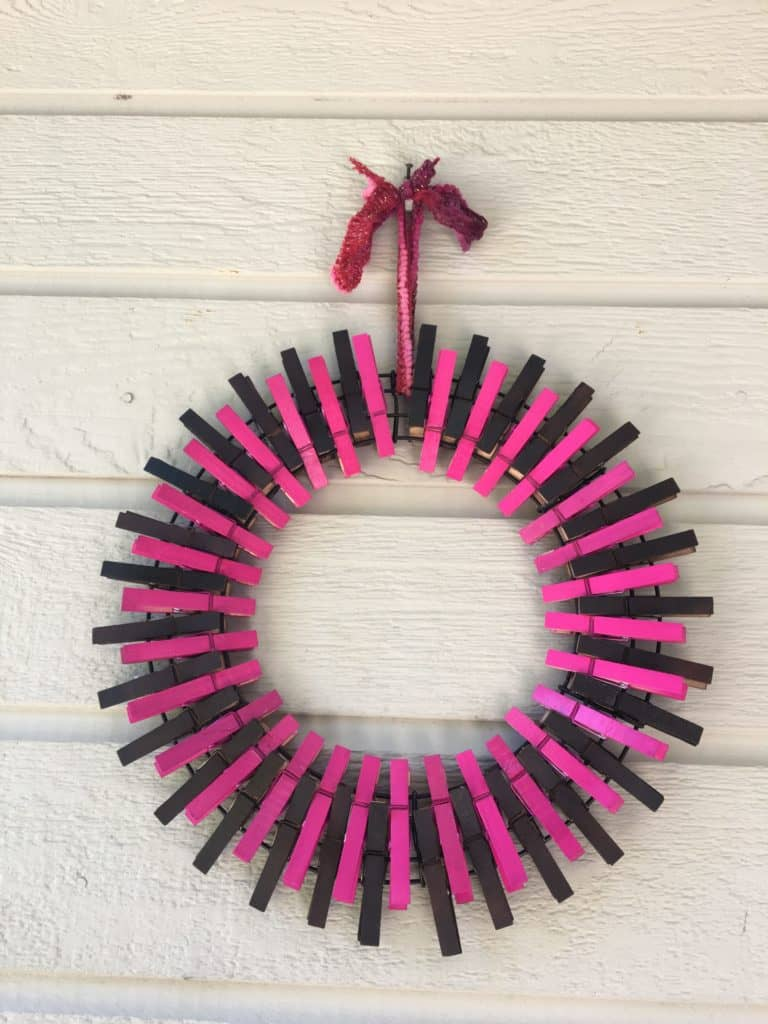 How To Make Clothespin Wreaths For Summertime Grace For Single Parents