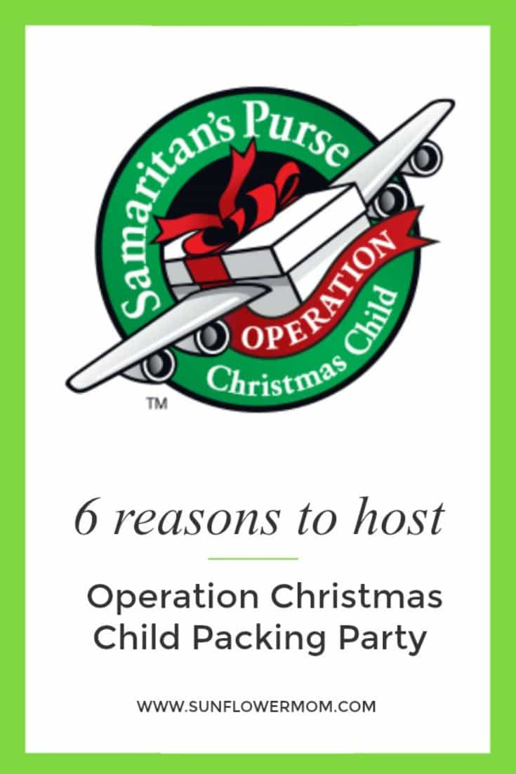 6 reasons to host your own Operation Christmas Child party and exactly how to do it right in your own home.  It is a great activity to do with your kids.