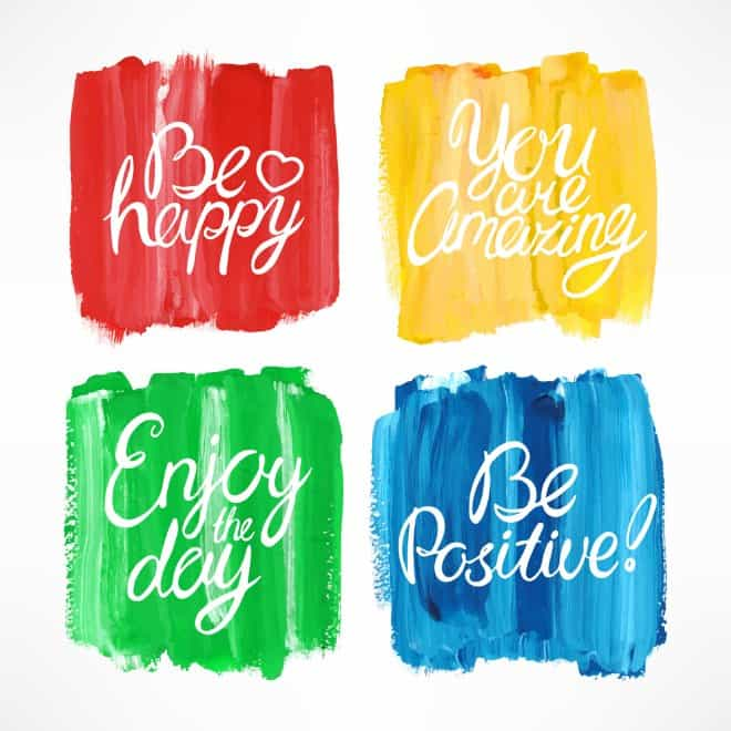 four quotes of happy people