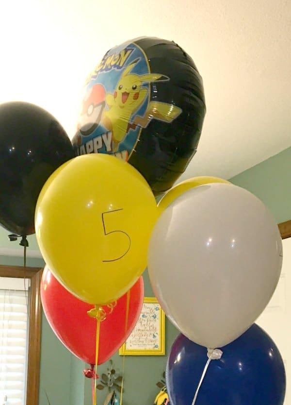 pokemon birthday party ideas for balloons