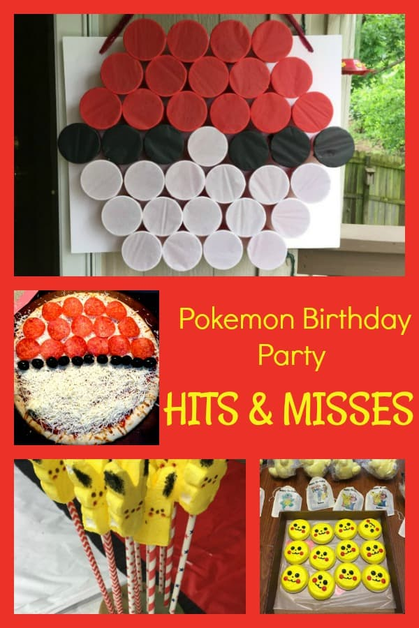 What worked and what didn't for a pokemon birthday party. Plus plenty of pokemon birthday party ideas and how to create a punch pokeball game - it was a