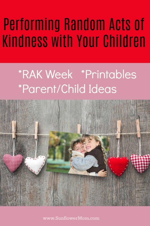 Performing random acts of kindness with your kids is fun and an easy way to involve them in service projects! Here is why we celebrate RAK week and how you can involve your children and resources to use along the way with a free printable!