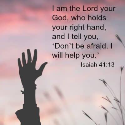 Isaiah 41:13 scripture verse