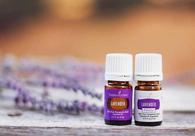 2 bottles of lavender essential oil