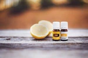 2 bottles of lemon essential oil