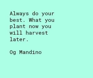 Og Mandino do your best quote