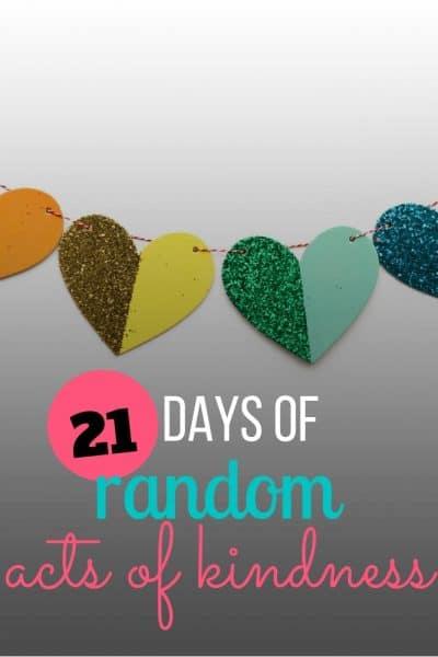 21 days random acts kindness - social