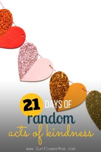 21 days random acts kindness - social
