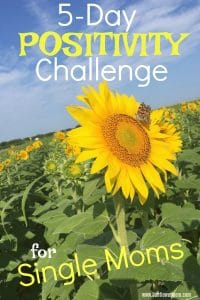5-day positivity challenge for single moms