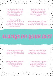 8 Always do your Best Quotes