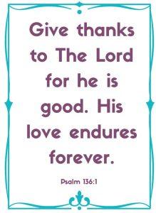 psalm 136:1