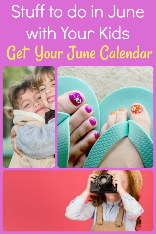 Fun and silly ways to connect with your kids for the whole month of June. Get a calendar with over 100 activities and ideas of ways to connect with your kids for the month of June alone!