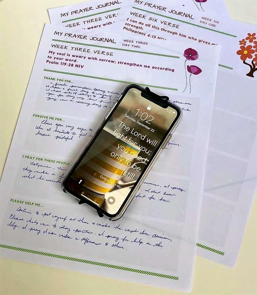 prayer journal with screensaver