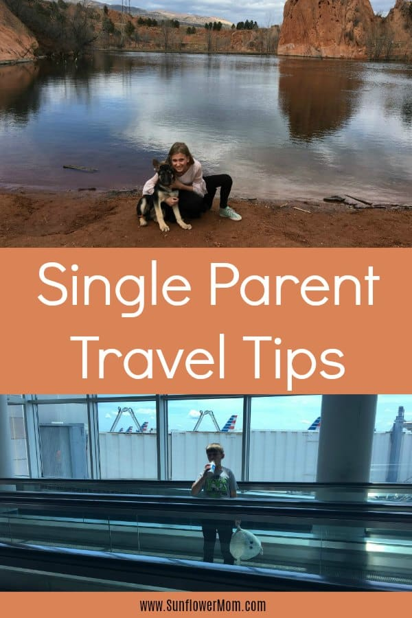 Single parent travel doesn't have to be stressful. In fact, I love it! After 8 years of single parent travel, I've got 8 tips that go above and beyond the normal trite advice. Plus a free printable to get your packing in order! #travel #singleparent #singlemomlife #sunflowermom