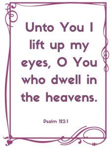 psalm 123:1