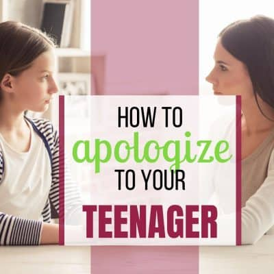 how to apologize to teenagers