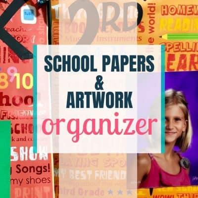 artwork school paper organizer