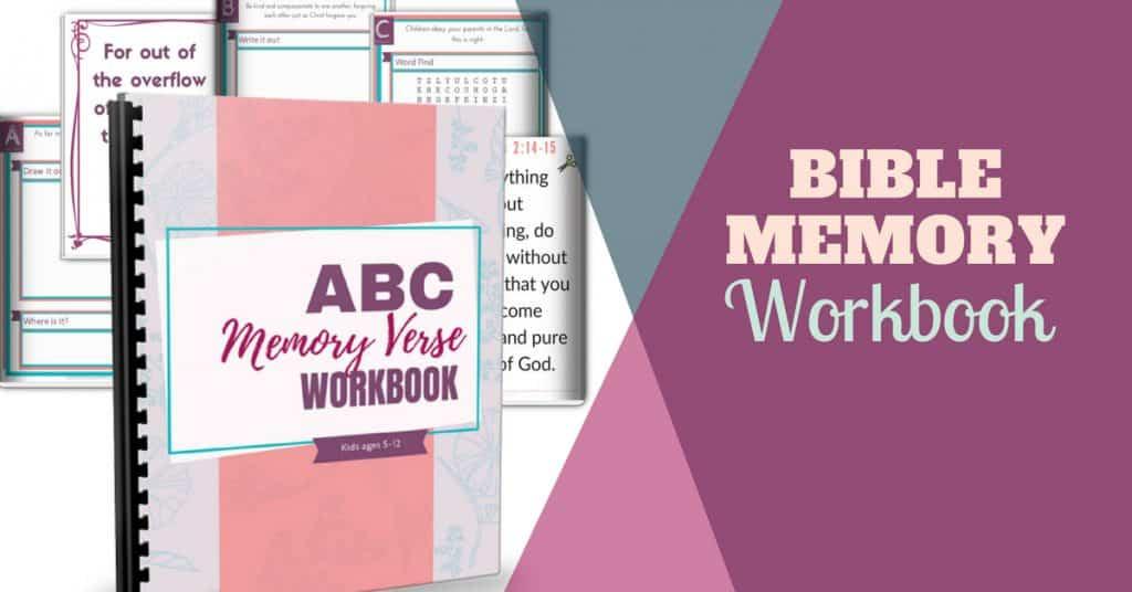bible memory kids workbook