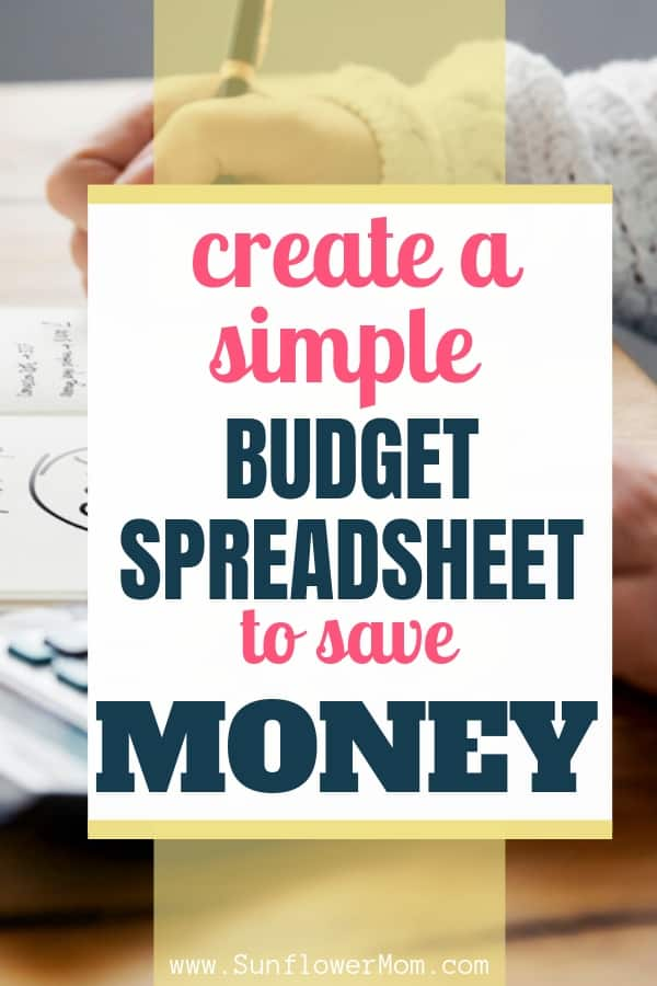 How to create a simple budget spreadsheet with step by step instructions and free templates. Budgeting that works and finding freedom in your finances with easy budget spreadsheets.  #money #budgeting #sunflowermom