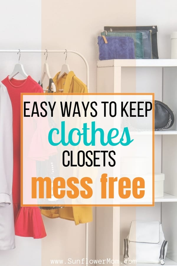 4 closet organization tips that work for children or parents. These ideas are affordable and help your family give back to others in the process. Grab your freebie to get organized this year. #declutter #organization #sunflowermom