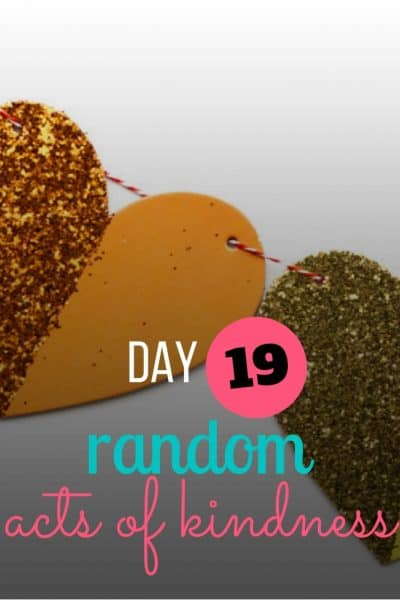day 19 random act of kindness