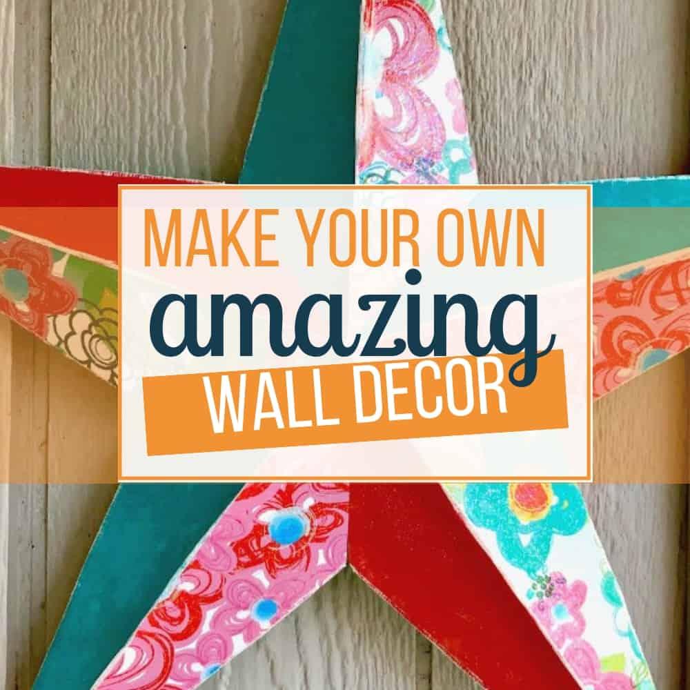 How To Make A Star Amazing Diy Wall Decor Sunflower Mom