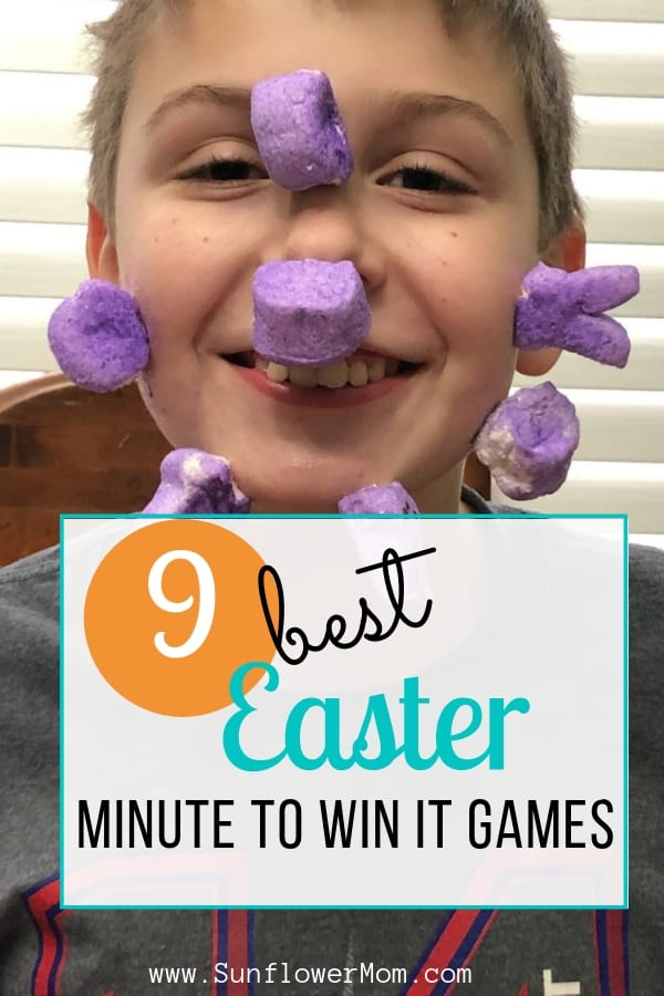 These 9 hilarious kid-approved Easter minute to win it games answer the question as to what do with all the leftover Easter candy: plastic eggs, peeps, and jelly beans. Whether you have one child or multiple these Easter games will work for you. #easter #eastercandy #games #sunflowermom