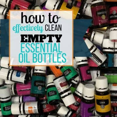 empty essential oil bottles