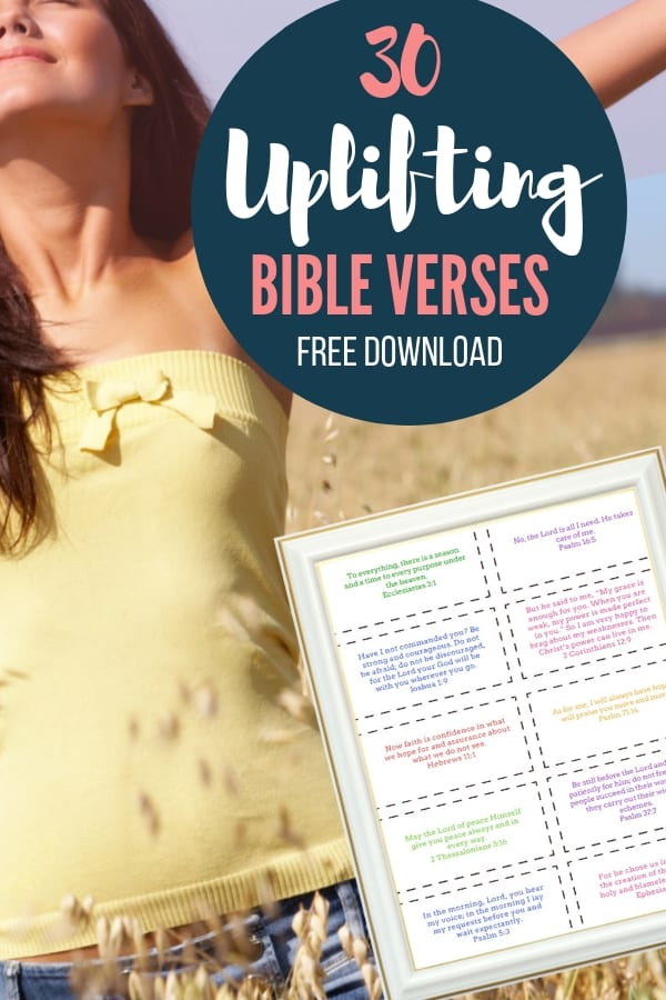 These 30 encouraging scriptures gave me hope, encouragement, and strength during difficult times. I pray these bible verses give you encouragement too. Print the encouraging scripture cards for free. #bible #jesus #christian #sunflowermom