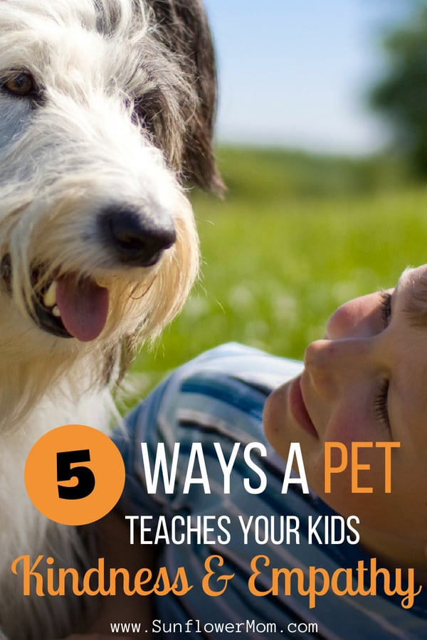Is your child always begging for a pup? Here are five ways our kids can benefit from the companionship of a furry friend and become better human beings. #parenting101 #kids #sunflowermom
