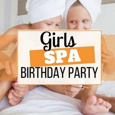 girls spa birthday party