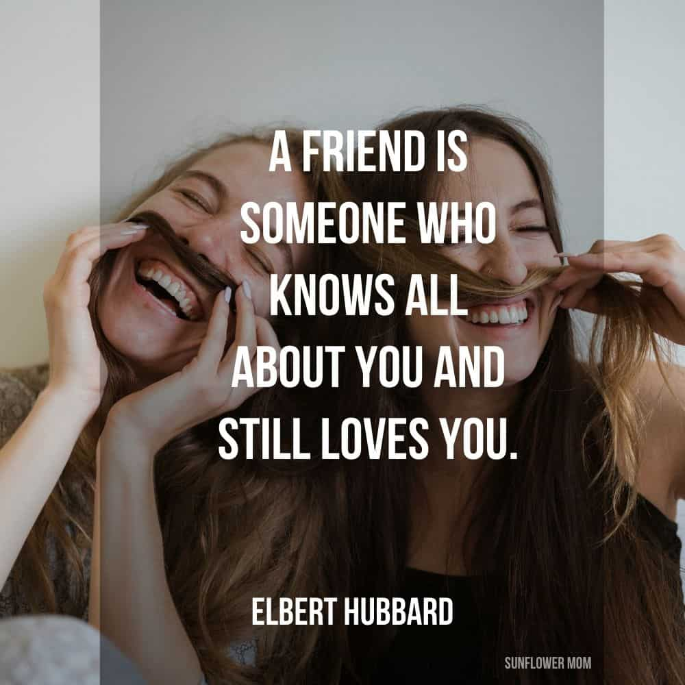 single mom quote on friendship