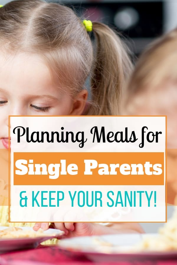 How to meal plan for single parents. Planning out meals for your kids is different when you\'re a single parent. Traditional meal plans won\'t work. Download this free meal planner for single parents. #singleparent #singlemom #mealplan #dinner #sunflowermom