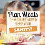 meal plan single parents
