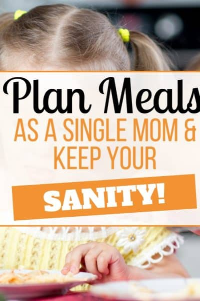 meal plan single parents