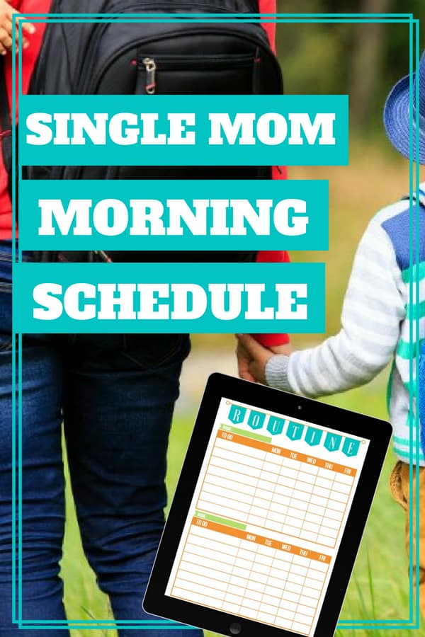Finding a morning routine for a single mom comes with its unique challenges. If you\'re a single working mom, who has to get a child (or more) out the door to school and your butt to work each morning, this one\'s for you. Here is a free printable and conversation not normally found for single, working mothers. #singlemom #morningroutine #parenting101 #singleparents #positiveparenting #sunflowermom