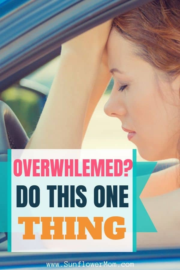 Do you have that overwhelmed feeling? The next time you feel overwhelmed by life, do this one thing and get control of your life.#selfcare #motherhood #singlemomlife #sunflowermom