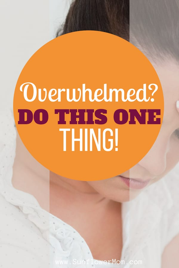 The next time you feel overwhelmed by life try doing this one thing. Do it for as long as the overwhelm lasts then you get back onto life's crazy train.