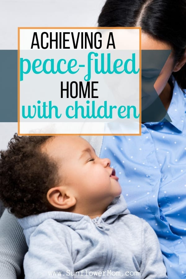 Check out these ideas to find peace in the evening with children. There isn\'t a one-size fit all answer on how to find peace in the evenings. But it is possible. #parenting101 #positiveparenting #sunflowermom