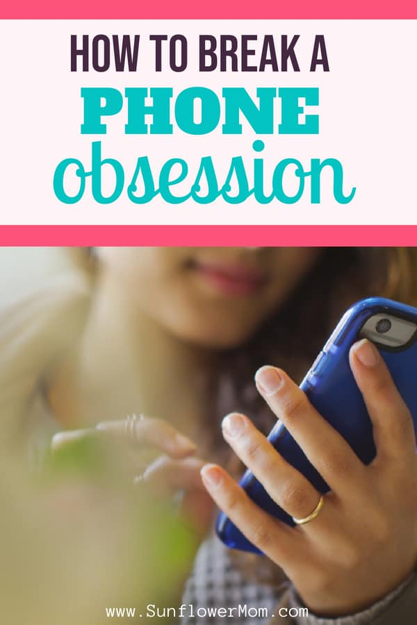 Addicted to your cell phone? Here are 6 strategies to cut down on using your phone. Put down your phone using these ideas. #selfcare #sunflowermom