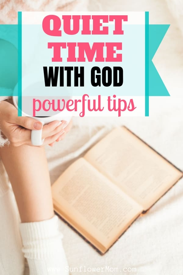 Tips to establish and enjoy a quiet time with God each morning. Whether you\'re wanting to start a new habit of meeting with God in quiet each day or looking for new ideas and resources, you\'ll find it here #selfcare #jesus #bible #christain #sunflowermom