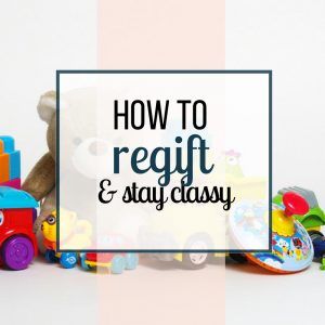 Regifting Unwanted Gifts to Save Money