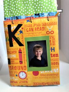 school artwork paper organizer grade K