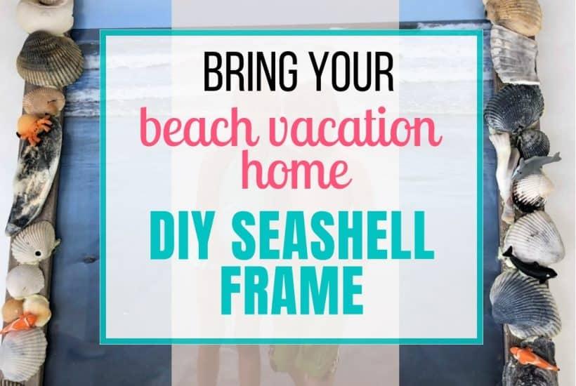 how to make a seashell frame