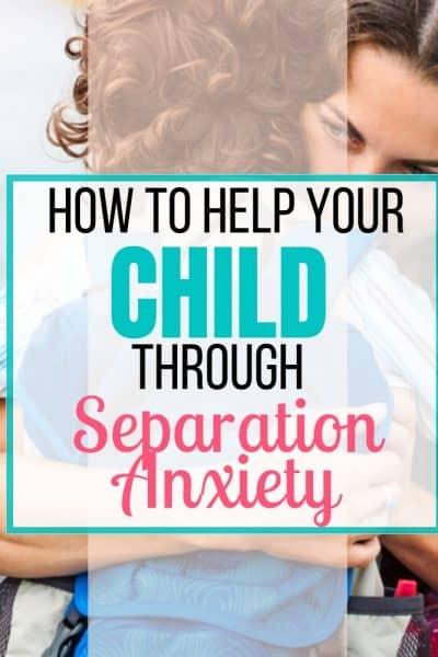 separation anxiety kids divorce