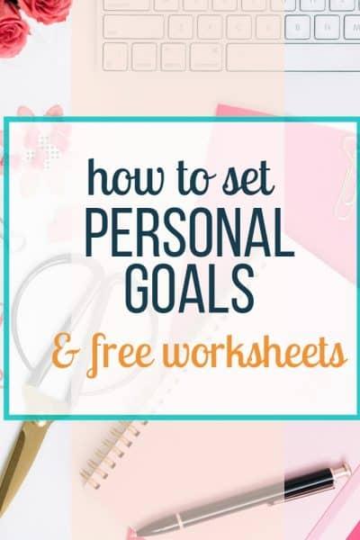 set personal goals
